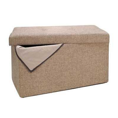 Double Folding Upholstered Storage Ottoman - Wayfair