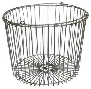 Round Wire Basket - One Kings Lane