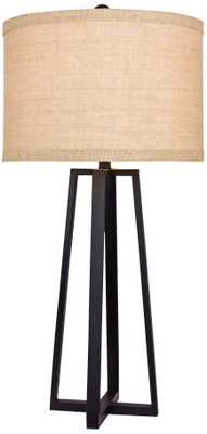 Hardtner Black Molded Metal Table Lamp - Lamps Plus