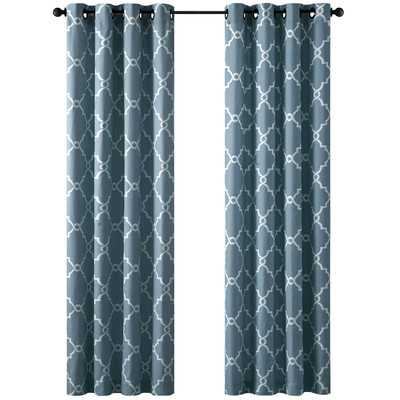 "Saratoga Single Curtain Panel - Blue - 95"" L x 50"" - Wayfair"