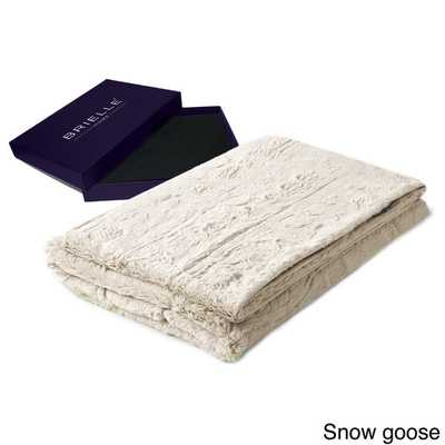 Brielle Faux Fur Reversible Throw With Gift Box - Overstock