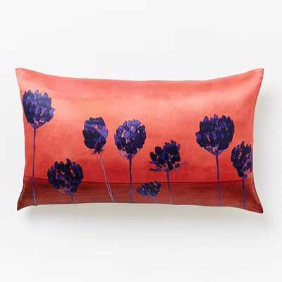 "Roar + Rabbit Pincushion Silhouette Pillow Cover - Poppy - 12""w x 21""l - Insert sold separately - West Elm"