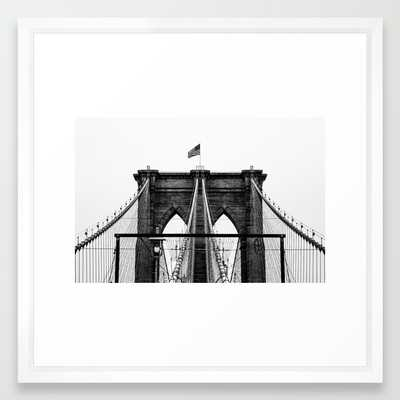 Brooklyn Bridge - 22x22 - Framed - Society6