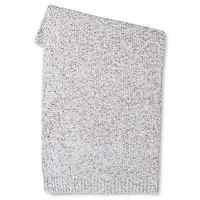 Marled Sweater Knit Throw Blanket - Gray - Target