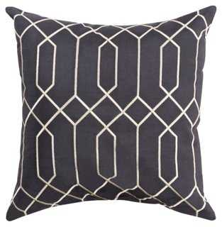 Skyline Pillow, Charcoal - One Kings Lane
