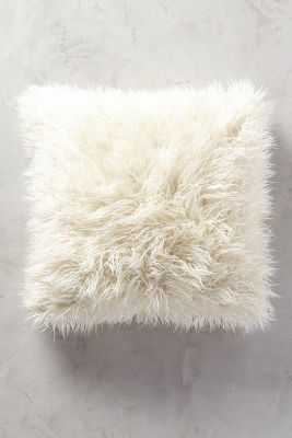 Shag Puff Pillow - Anthropologie