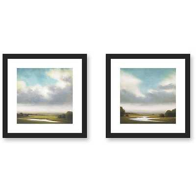 Gallery Direct St. John 'Light Precipitation' 2-piece Framed Art Print Set - Overstock