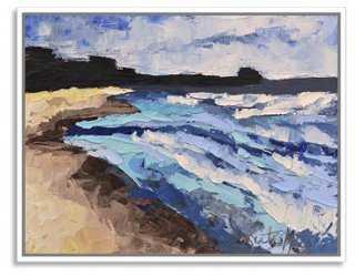 "Kate Mullin, Folly Beach - 40""W x 31""H - Framed - One Kings Lane"
