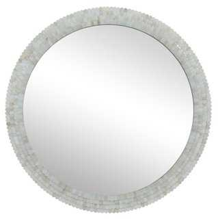 Deanna Wall Mirror, Ivory - One Kings Lane