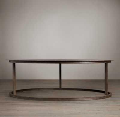 "MERCER ROUND COFFEE TABLE - 49"", Zinc - RH"