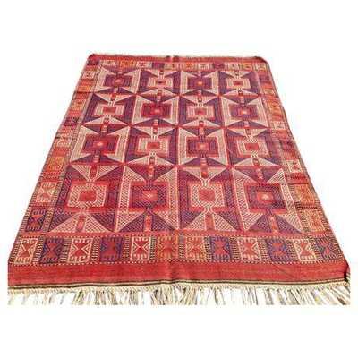 Vintage Red Turkish Kilim Rug - Chairish