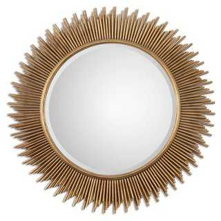 Eula Wall Mirror, Gold Leaf - One Kings Lane
