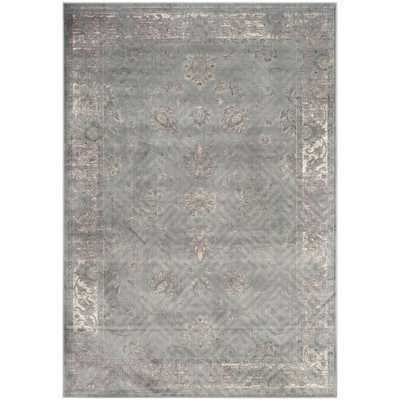 Safavieh Antiqued Vintage Grey Viscose Rug (6'7 x 9'2) - Overstock