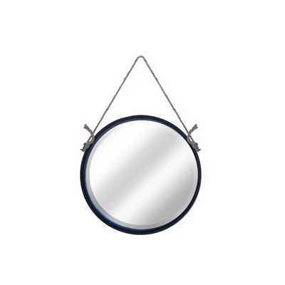 "19""H Metal Round Rope Hanging Mirror - Wayfair"