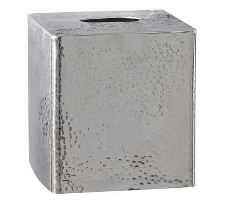 Hammered Nickel Bath Accessories -  Tissue Box Cover - Pottery Barn
