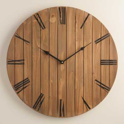 Slatted Wood Wall Clock - World Market/Cost Plus