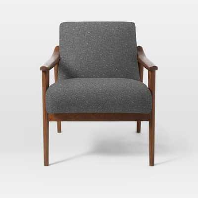 Mid-Century Show Wood Upholstered Chair - Tweed, Salt + Pepper - West Elm
