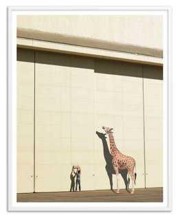 "Newstead, Curious Giraffe, Oversize- 40"" x 50""- Framed - One Kings Lane"