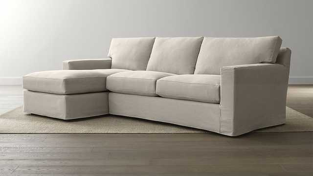 Axis II Slipcovered 2-Piece Sectional Sofa - Crate and Barrel