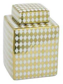 Diamond Print Jar - One Kings Lane