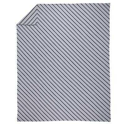 Twin Little Prints Duvet Cover (Blue Stripe) - Land of Nod