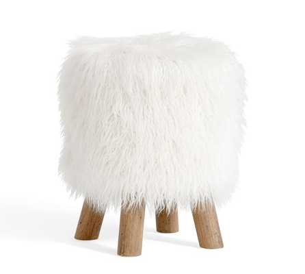 FAUX FUR STOOL - Pottery Barn