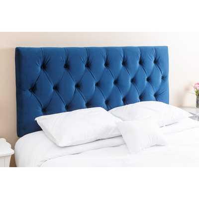 Abbyson Living Connie Tufted Navy Blue Velvet Queen/ Full Headboard - Overstock