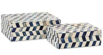 Eliza Bone Boxes - Set of 2 - Home Decorators