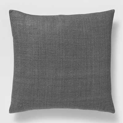 Silk Handloomed Pillow Cover, Slate - West Elm