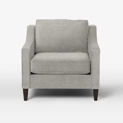 Paidge Chair - Shadow Weave, Platinum - West Elm