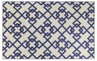 9'x12' Everett Flat-Weave Rug, Blue - One Kings Lane