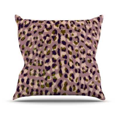 """Leopard Print Throw Pillow 18"""" - with insert - Wayfair"""