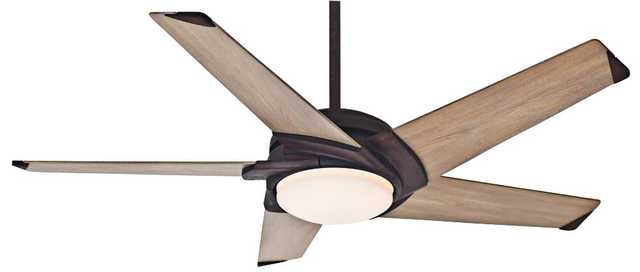 "54"" Casablanca Stealth Industrial Rust LED Ceiling Fan - Lamps Plus"