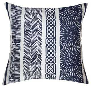 Paths 19x19 Silk Pillow, Navy - One Kings Lane