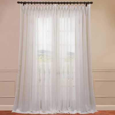 "Wide Sheer Single Curtain Panel - White - 100"" - Wayfair"