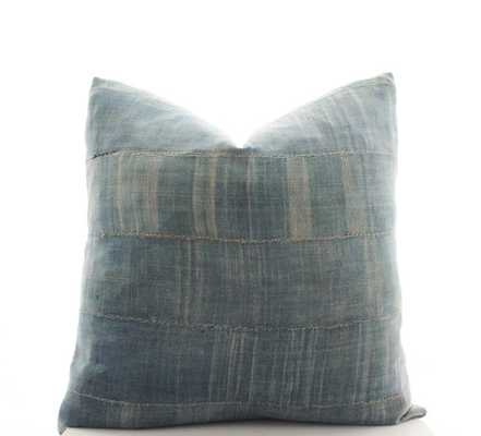 African Indigo Cloth Boho Pillow Cover - cover only - Etsy