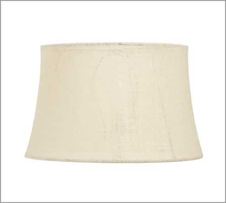 Burlap Upholstered Tapered Drum Lamp Shade - Pottery Barn