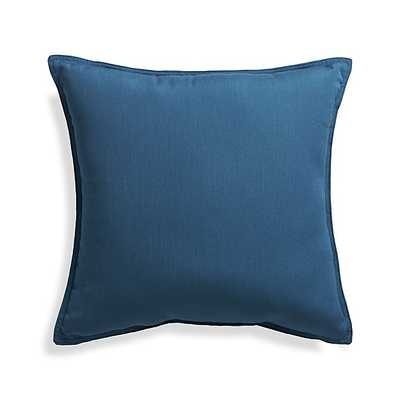 "Sunbrella ® Turkish Tile 20"" Sq. Outdoor Pillow - Blue - With insert - Crate and Barrel"