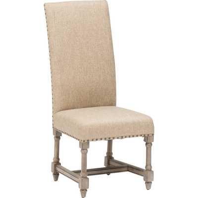 Baroque Linen Side Chair - High Fashion Home