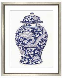 """Blue & White Ceramics I - 21"""" x 25"""" - Frame - One Kings Lane"""