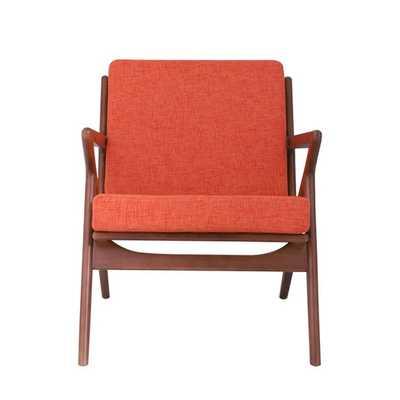 Zain Arm Chair - Calypso Orange - AllModern