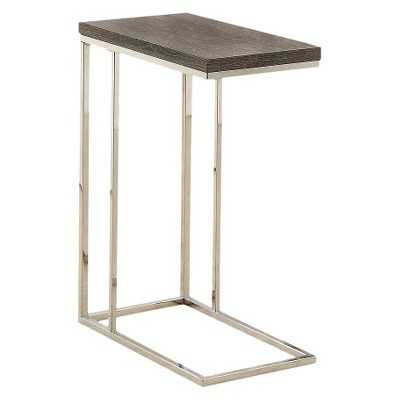Monarch Specialties C Shape Metal Accent Table-Dark taupe - Target
