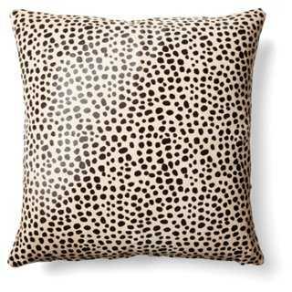 "Cheetah Hide Pillow- 18"" x 18""- Beige/black- Polyester insert - One Kings Lane"