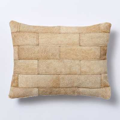 Cowhide Patchwork Pillow Cover - Subway Tile - 12x16 - Insert Sold Separately - West Elm