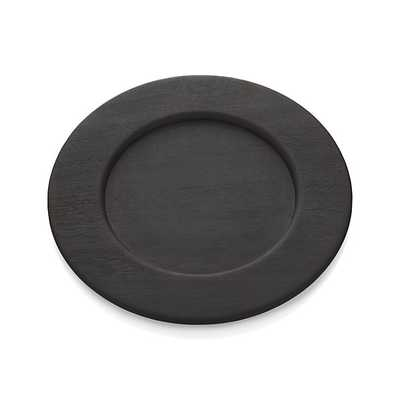 Evans Wood Charger Plate - Crate and Barrel