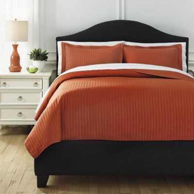 Raleda Coverlet Set - Orange, King - Wayfair