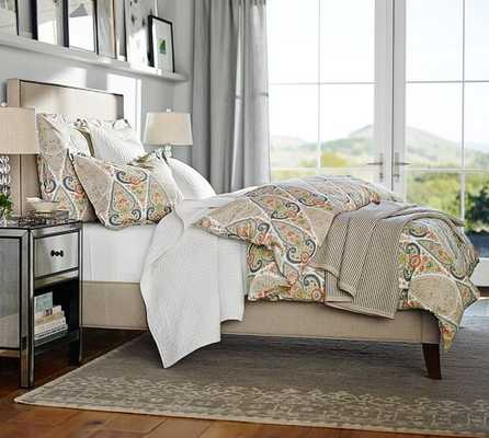 FILLMORE SQUARE UPHOLSTERED BED & HEADBOARD - Pottery Barn