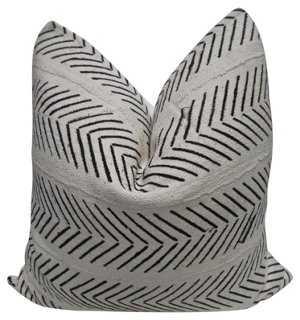 African Tribal & European Linen Pillow - One Kings Lane