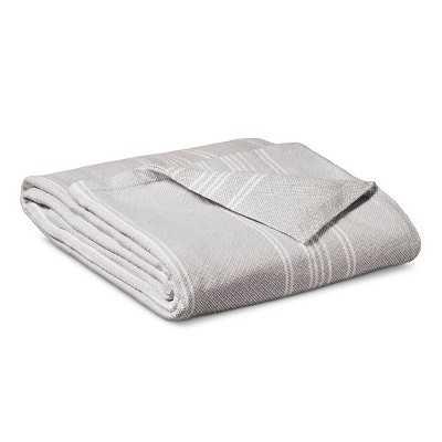 Yarn Dye Stripe Ringspun Cotton Blanket - Seagull - Target