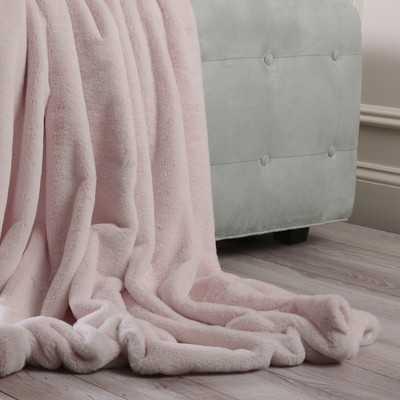 Luxe Faux Fur Throw Blanket - Wayfair